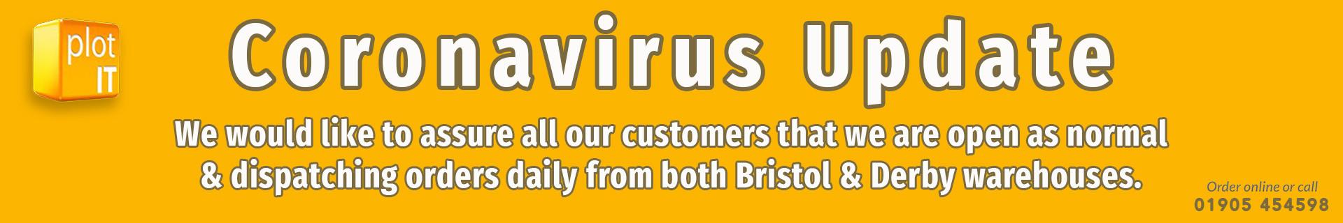 Coronavirus delivery info