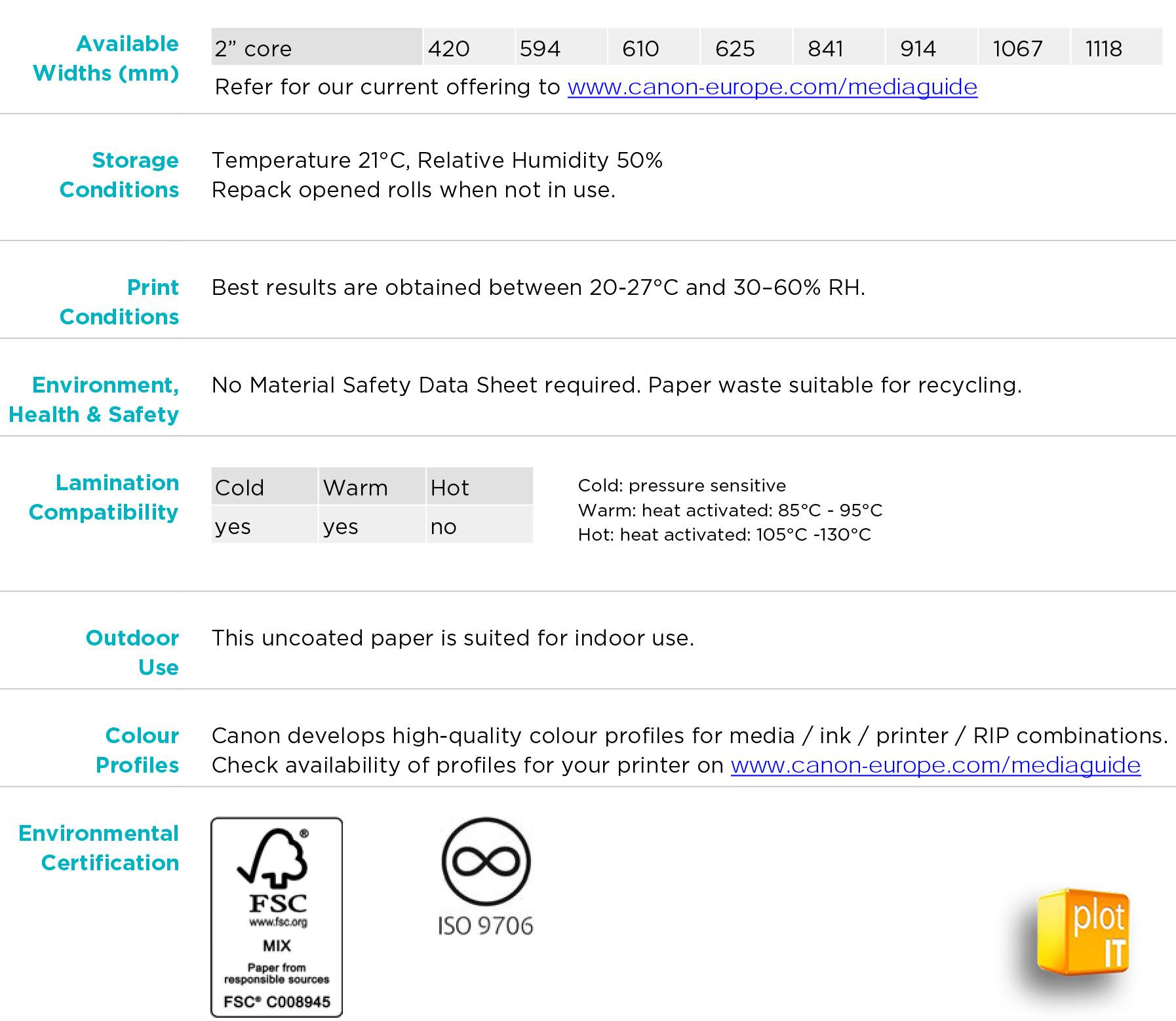 Oce IMJ021 Additional Info