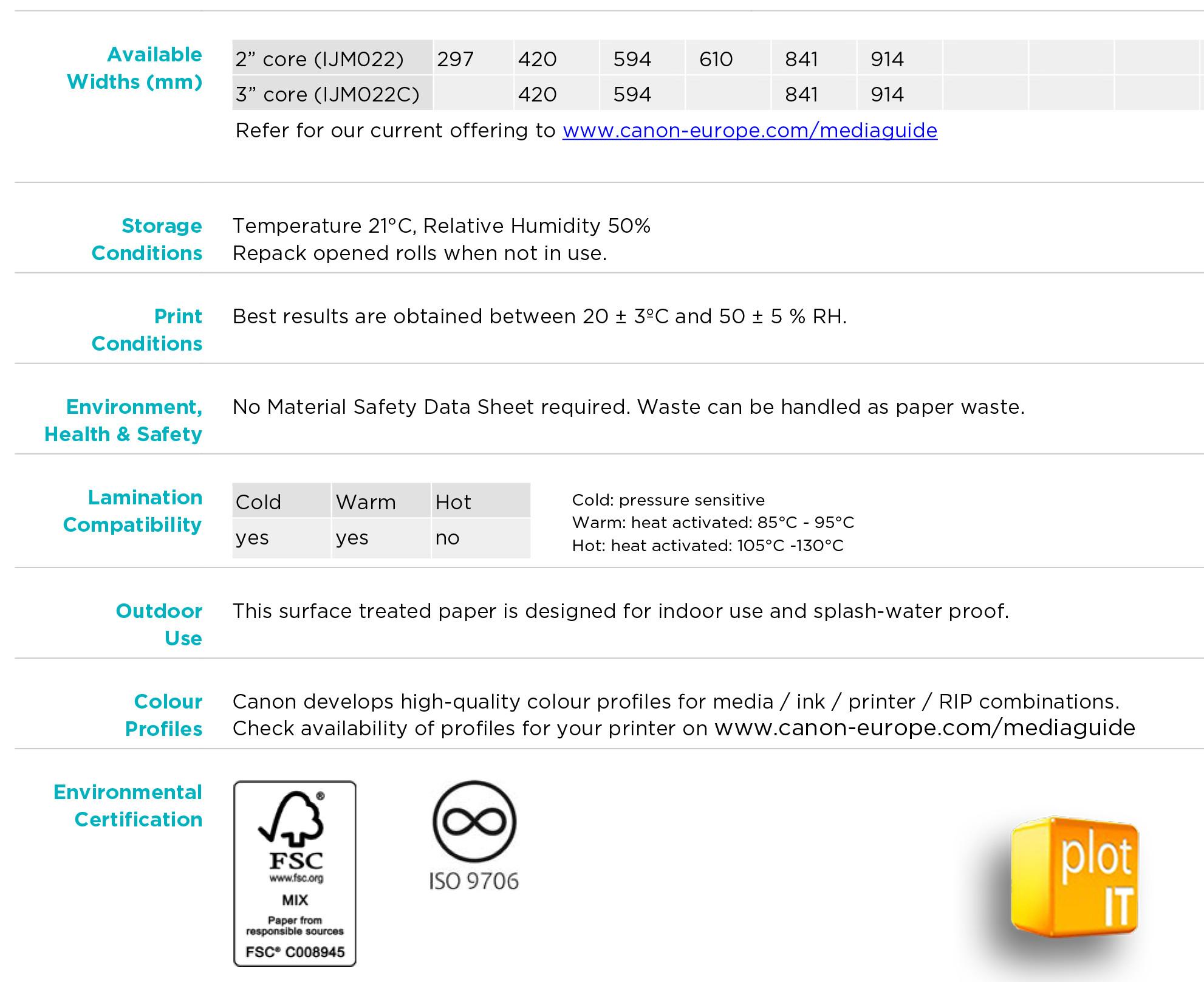 Oce IMJ022 Additional Info