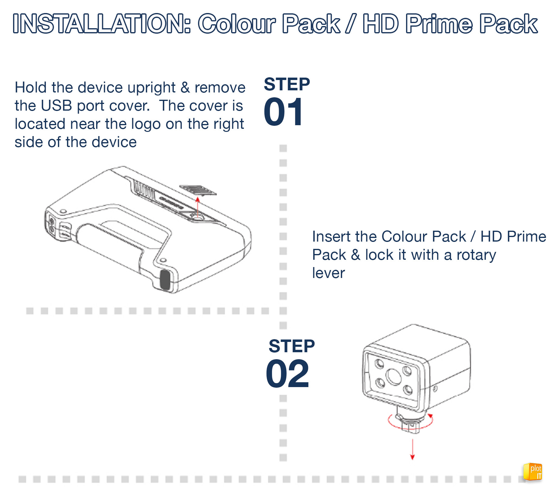 Einscan Colour Pack / HD Prime Installation instructions