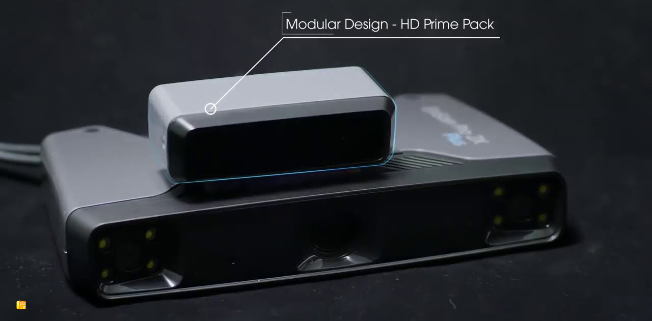 Einscan HD Prime module infographic