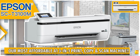 EPSON SC-T3100M Our most affordable A1 3-in-1 Print, Copy and Scan Machine