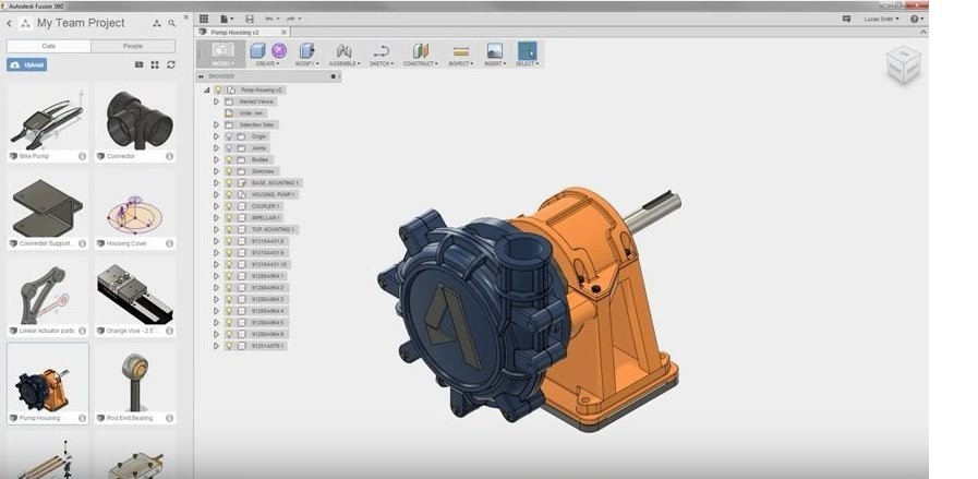 User interface fusion 360
