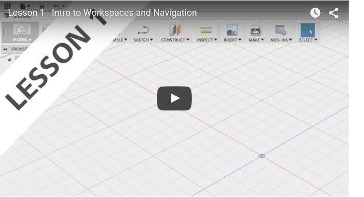Fusion 360 Lesson 1 Workspace & Navigation
