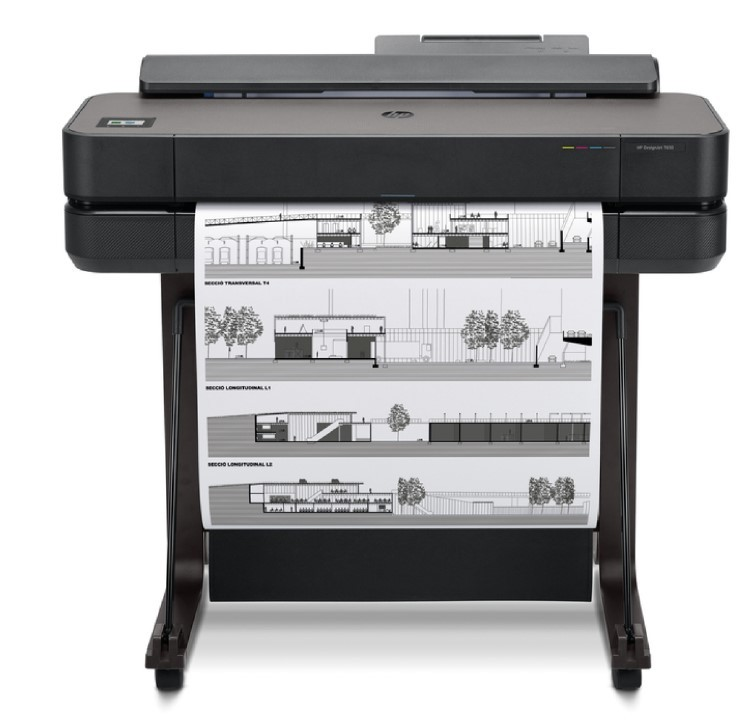 HP designjet T230 T250 with stand, roll cover and paper tray