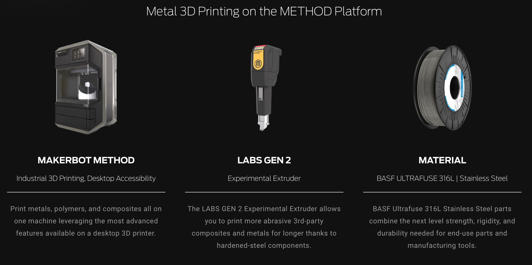 Method METAL infos