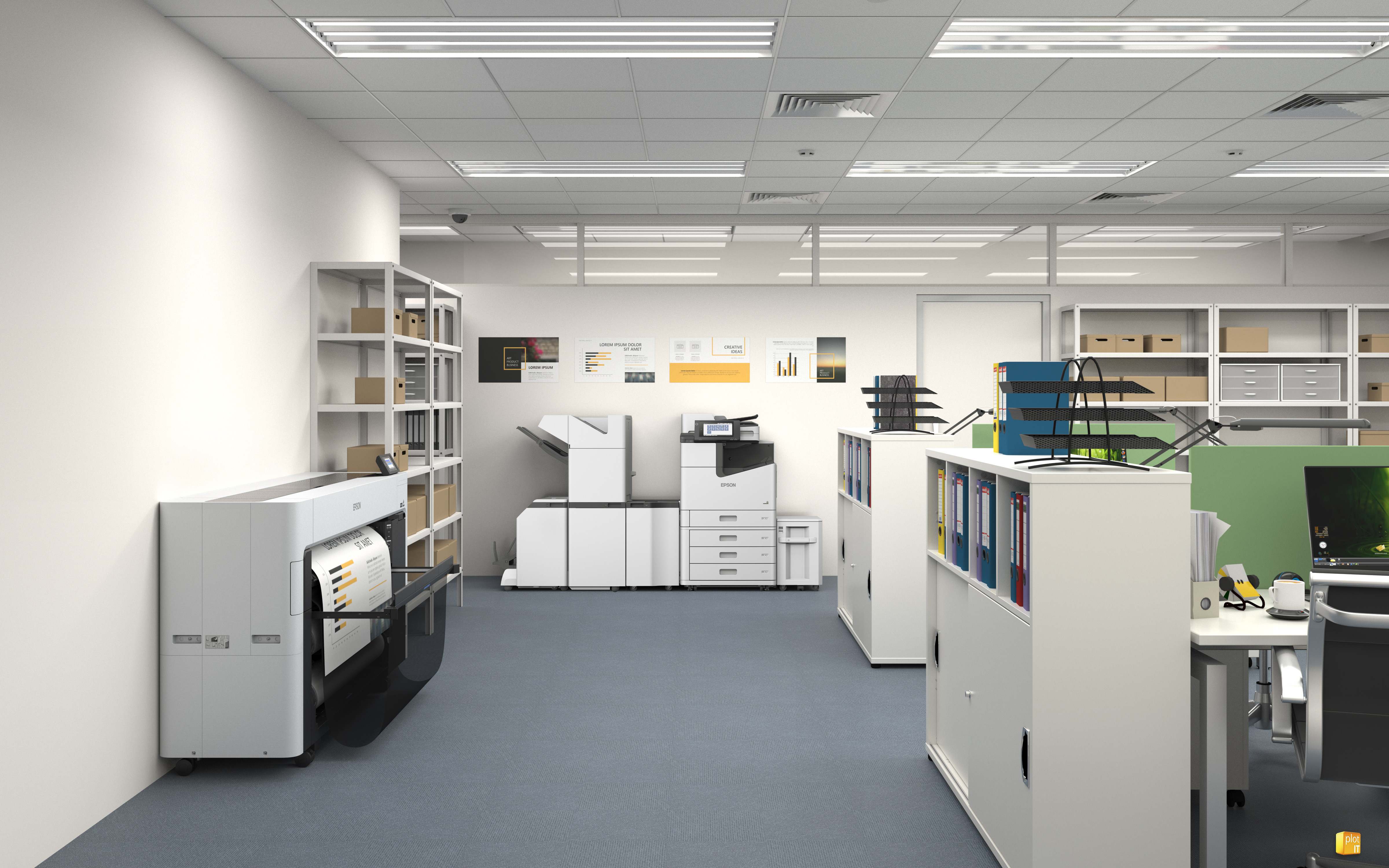 SC-P8500D OFFICE SCENE WITH BASKET
