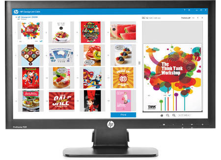 HP Click and Select Designjet Printing software