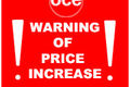 Canon Announce price increase on Oce Ink & Toner