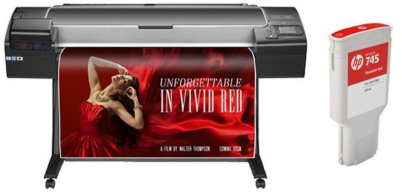 HP 745 Chromatic Red ink