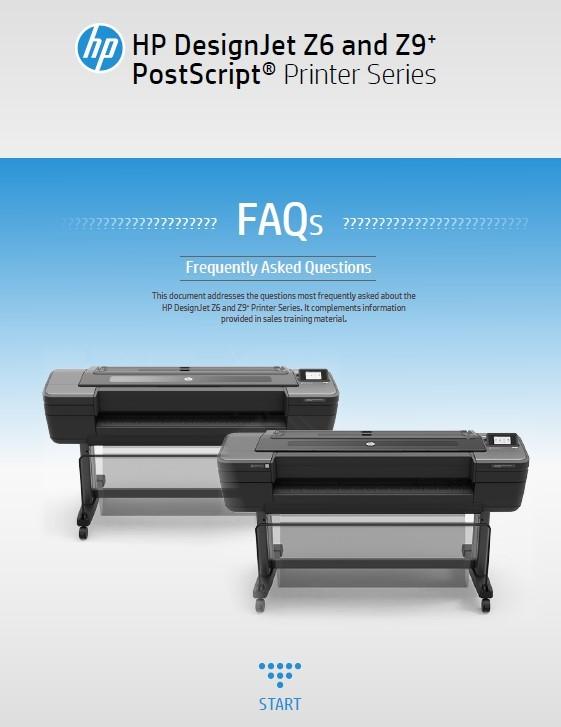 HP DesignJet Z6 Z9 FAQ's