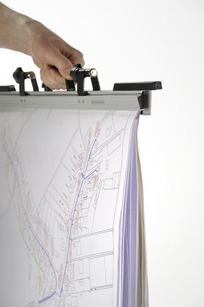 Vistaplan A1 / A0 Drawing Hangers with Carry Handles