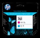 HP 761 Designjet Cyaa/ Magenta printhead - HP Designjet T7100 T7200 761 Printheads