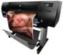 "HP Designjet Z6200 42"" Photo Printer CQ109A : HP Z6200, side with print"