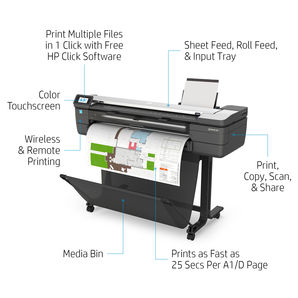 HP DesignJet T830 36-in A0 Multifunction Printer F9A30D