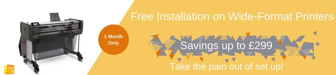 Free Install on HP Designjet Z6600