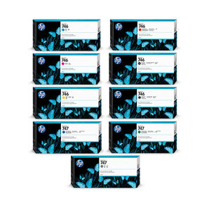 HP 746 & 747 Designjet Z6/Z9 Series Ink Cartridges