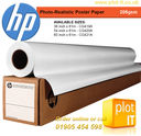 HP Photo-Realistic Poster Paper_PLOT-IT - HP Photo-Realistic Poster Paper 205g/m² x 61m