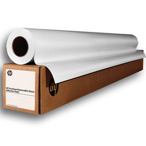 "HP Premium Removable Gloss Adhesive Vinyl 136g/m² P5K44A 54"" 1372mm x 45.7m roll"