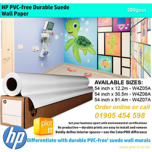 Hp Pvc Free Durable Suede Wall Paper Latex Printing Lexjet