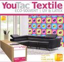 IYT102_ROLLS_PLOT-IT - YouTac Textile Eco-Solvent, Latex, UV Compatible 300g/m² IYT102 x 25m Roll