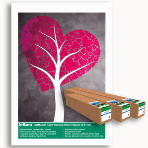 "JetMaster® IFA129 Paper Canvas Effect 165g/m² IFA-129-0610-030 24"" 610mm x 30m roll"