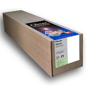 "Olmec Photo Gloss Midweight 240g/m² OLM63R24 24"" 610mm x 30mtr Inkjet Paper"