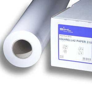 """SiHL Aquarella2 Paper 210 3338-44-30-3 200g/m² 44"""" 1118mm x 30mtr Roll"""