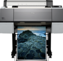 "front view with print - Epson Stylus Pro 7890 24"" Photo Printer C11CB51001A0"