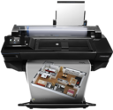 "T520 with Architectural render - HP DesignJet T520 24"" A1 ePrinter CQ890A"